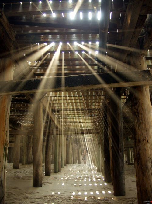 ;;;: At The Beaches, Sun Ray, Lights Show, Pier, Sunray, Families Pics, Photo, Hidden Spaces, Old Barns