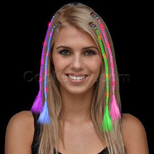 76 best glow party images on pinterest 16th birthday blondes and dj fun central led light up braided hair extensions assorted pmusecretfo Choice Image