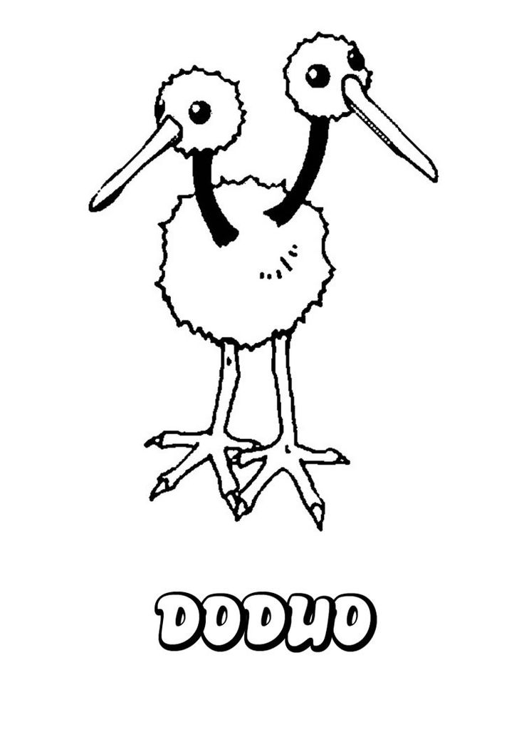 Doduo Pokemon Coloring Page You Can Print Out This But Also Color Online Do Like NORMAL POKEMON