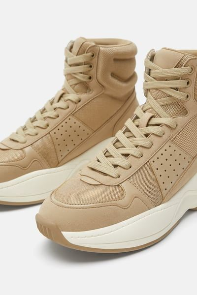 Image 3 Of Chunky Sole High Top Sneakers From Zara Shoes In 2018