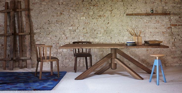 table keplero by paolo cappello . miniforms   miniforms, italy ... - Consolle Byblos Tavolo Allungabile Legno Massello