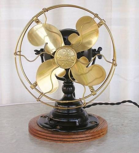 Emerson Antique Electric Fan 14644 Bullwinkle 8 inch Blades Restored 1911 1912