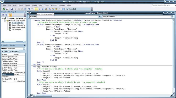 Veel ervaring in het programmeren in MS Excel omgeving