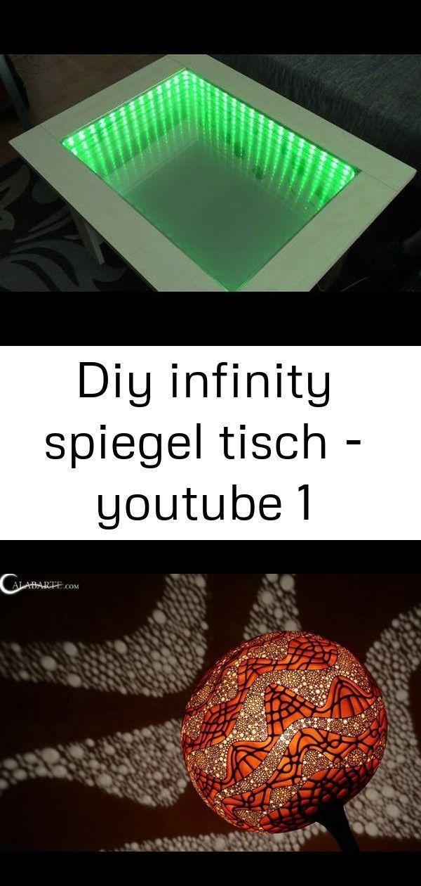 Diy Infinity Mirror Tisch Youtube Diy Lampe Selber Machen Lampe