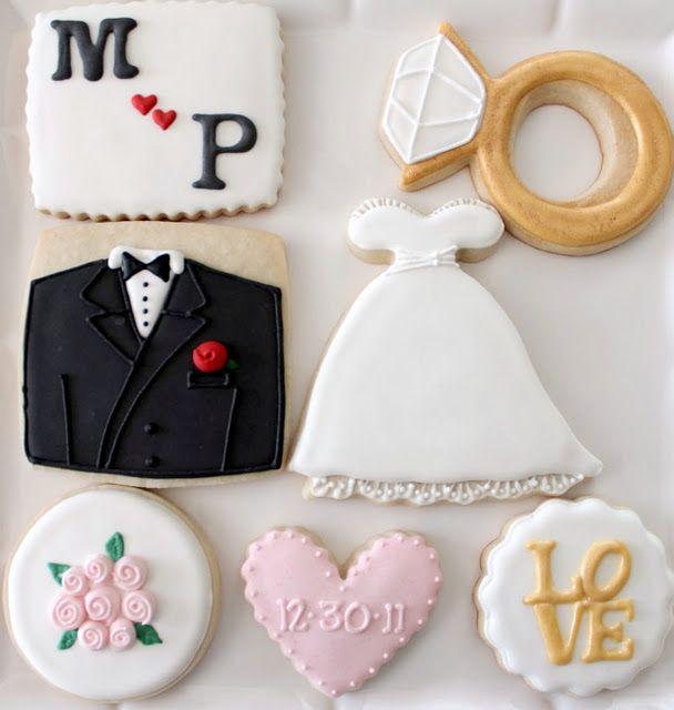 bridal cookies · Cookie IdeasCookie DesignsWedding ... & 45 best Wedding Cookies images on Pinterest | Wedding cookies ...