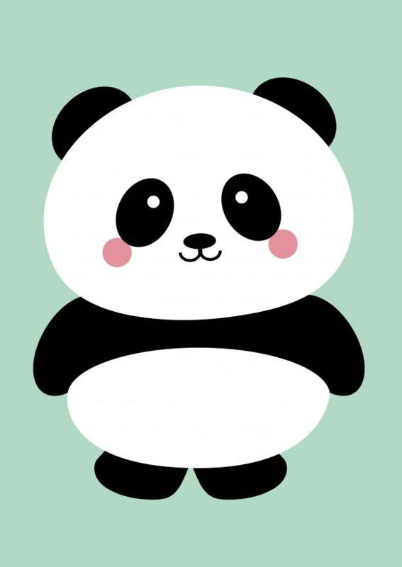 Kaart Panda mint Ansichtkaart panda op een mintkleurige achtergrond. Deze kaart is geschikt voor elke gelegenheid, maar natuurlijk ook om gewoon op te hangen of neer te zetten in je interieur.