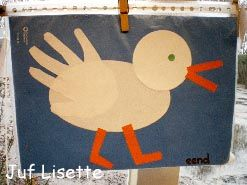 handprint duck easter craft