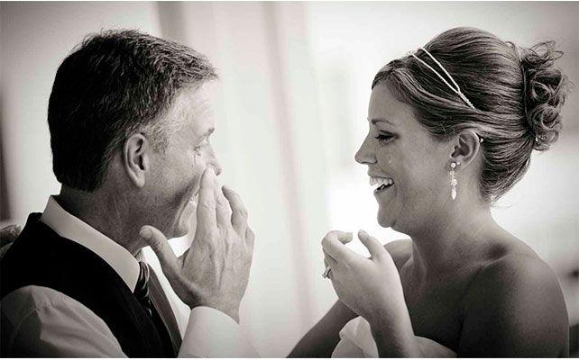 свадебный снимок родители