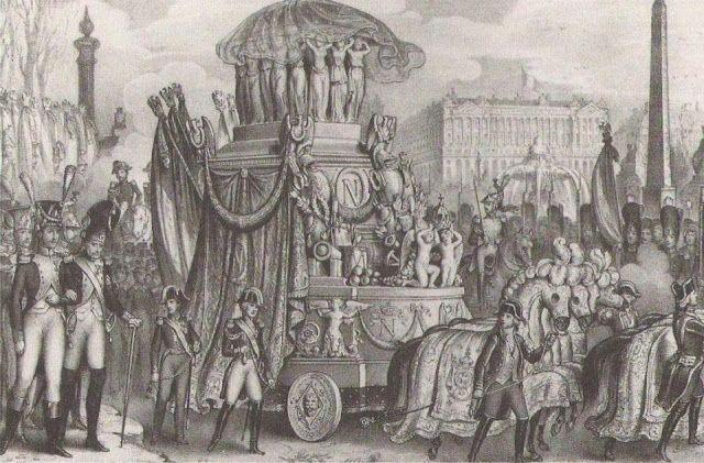 Le char funèbre de Naoléon 1er