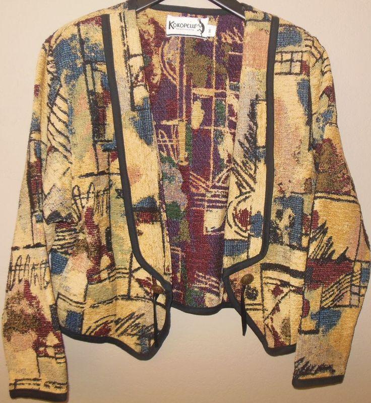 KOKOPELLI Open Jacket New Mexico Collection Southwestern Tapestry Medium Cardi #Kokopelli #Jacket