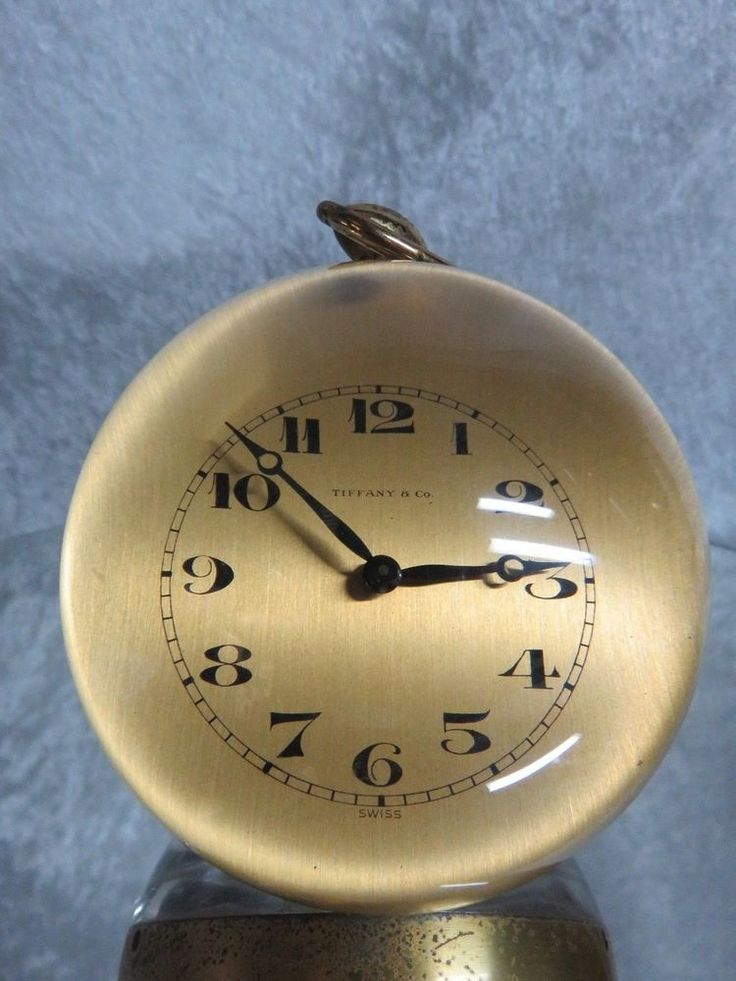 Tiffany Amp Co Lucite Ball Desk Clock 15 Jewels Im Hoff