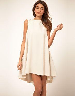 simple: Summer Dresses, Cocktails Dresses, Style, Swings Dresses, Dips Hemmings, Cocktails Parties, Asos Swings, Little White Dresses, Asos Dress