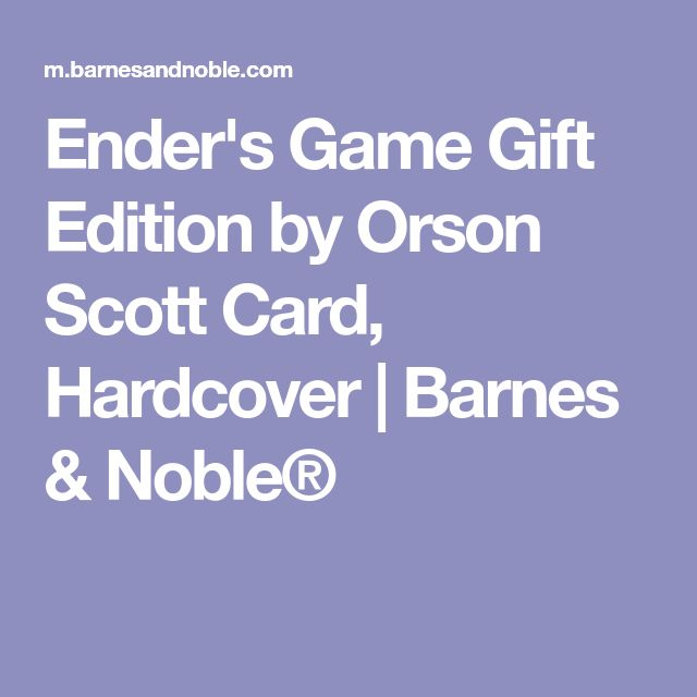 Ender's Game Gift Edition by Orson Scott Card, Hardcover | Barnes & Noble®