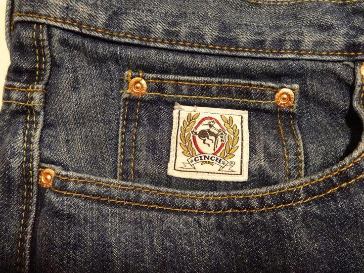 CINCH Men Jeans 36 x 36 White Label Medium Wash Blue Denim Cinch Up #Cinch #ClassicStraightLeg See my other Ebay items  http://stores.ebay.com/heyitspatti