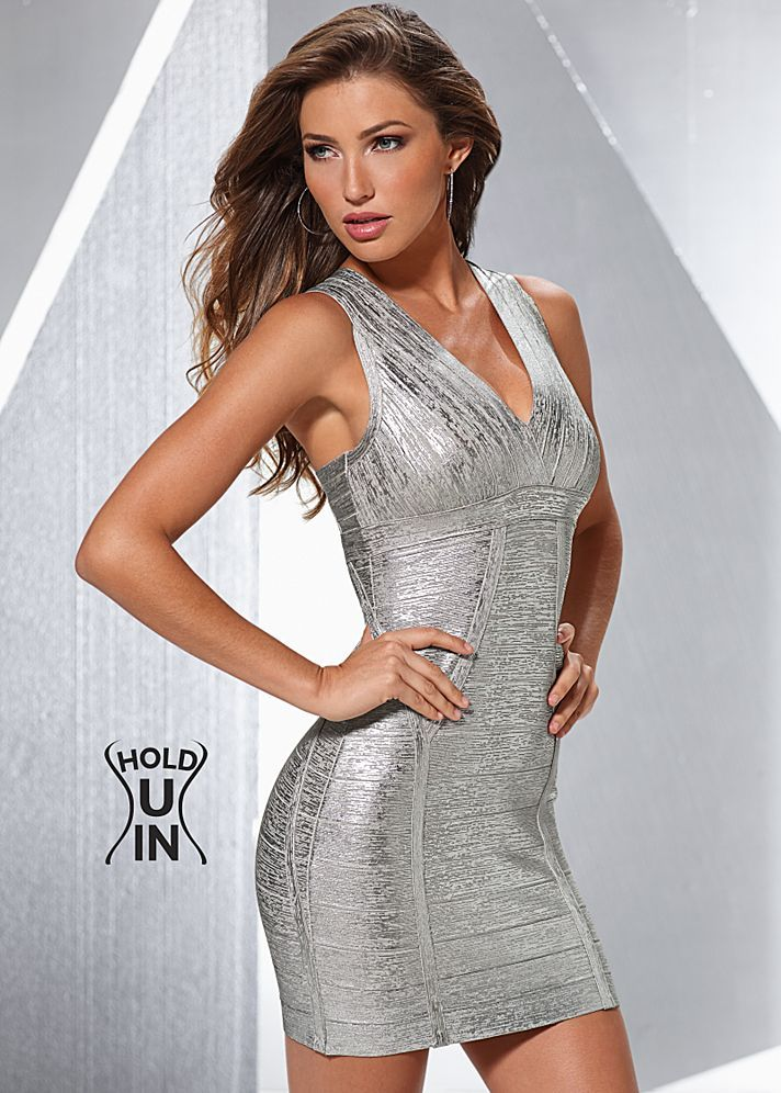 Metallic Hold You In Dress In The Venus Line Of Dresses
