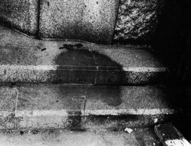 The Shadow of a Hiroshima Victim Etched into Stone Steps. Few seconds after the nuclear blast all that remained of people were these shadows. 1945 [960x760]