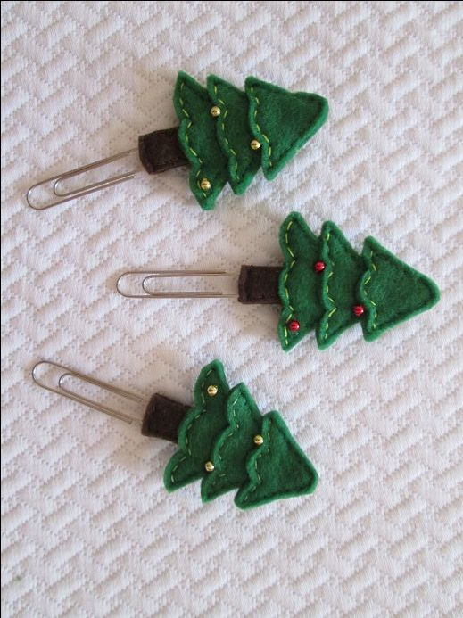 Stocking stuffer Christmas planner clip - Christmas Tree bookmark - Planner…