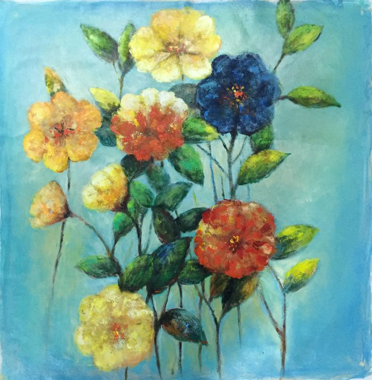 Love these colorful flowers! www.baylandcollection.com for the best canvas print and oil paintings!