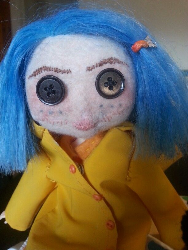 Upcycled Coraline doll