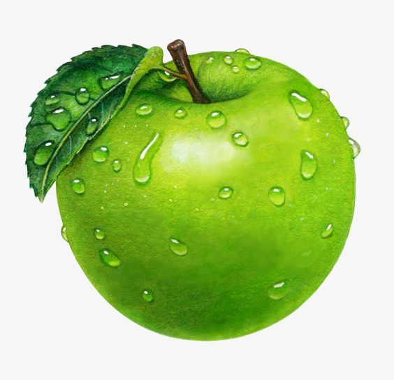 Droplets Green Apple Drop Green Apple Green Leaves Png Transparent Image And Clipart For Free Download Fruits Images Fruit Art Apple