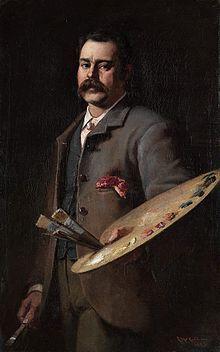 Frederick McCubbin, Self-Portrait, 1886 - Frederick McCubbin (1855-1917) was an Australian painter who was prominent in the Heidelberg School, one of the more important periods in Australia's visual arts history.