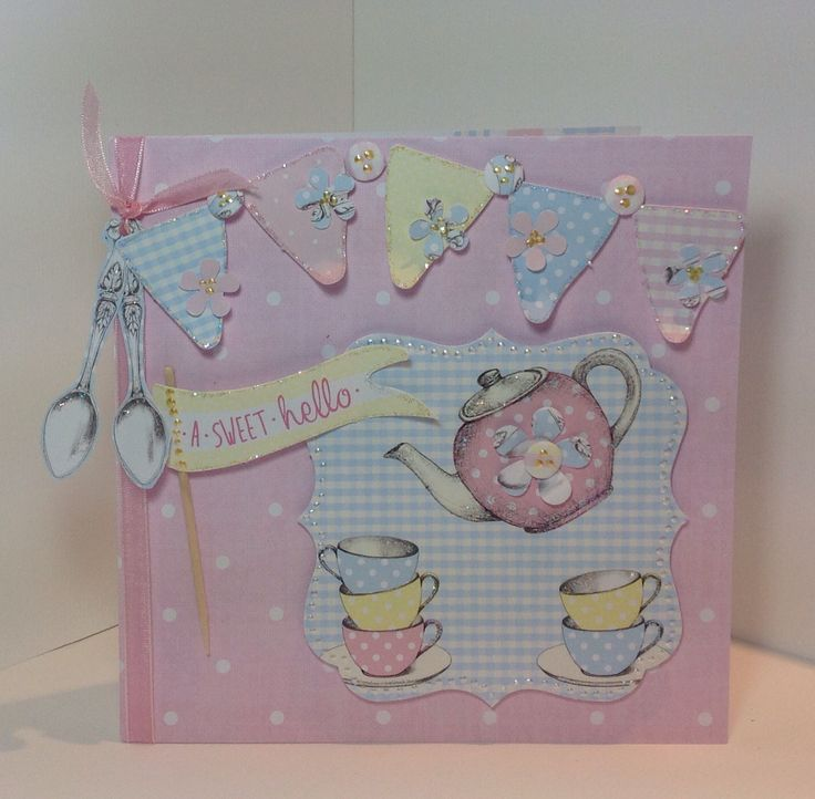 Card created using Love a Cuppa collection designed by Julie Hickey #handmadecard @craftworkcards.com