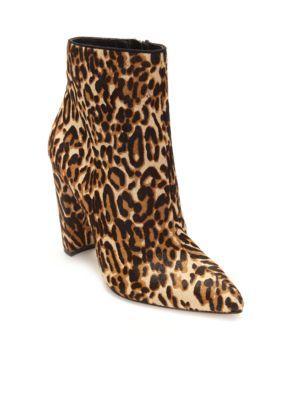 Jessica Simpson Women's Teddi Leopard Bootie - Natural - 6.5M