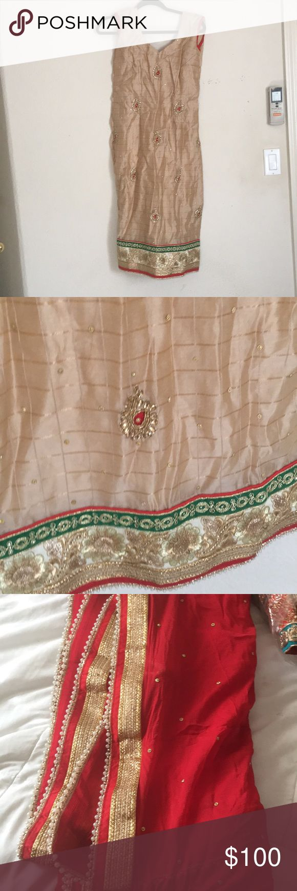 Indian Bollywood suit Never worn   Bust 37 Other