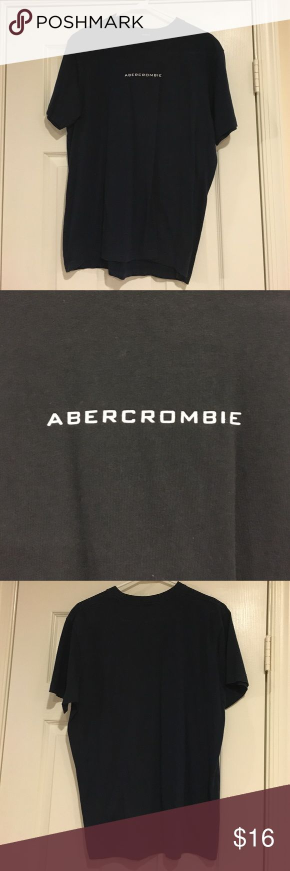 Mens Abercrombie and Fitch TShirt Navy Blue Tshirt Abercrombie & Fitch Shirts Tees - Short Sleeve