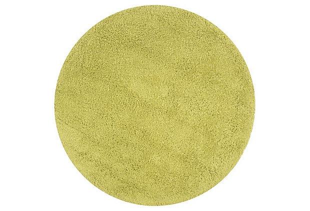 Round Shag Rug, Lime on OneKingsLane.com