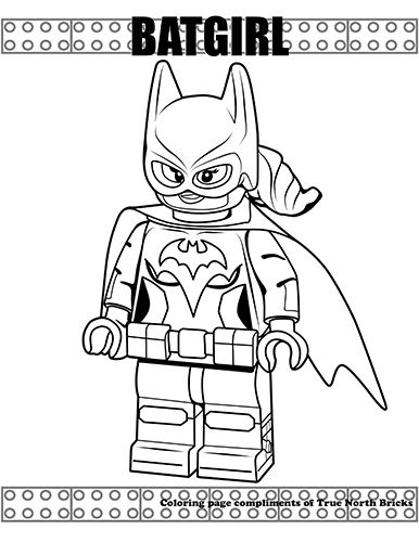 Batgirl Coloring Page Lego coloring