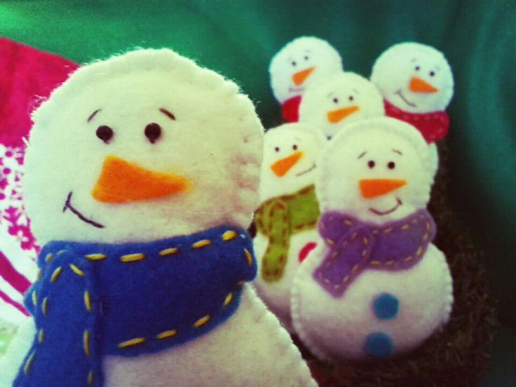 Fieltro muñeco de nieve navidad