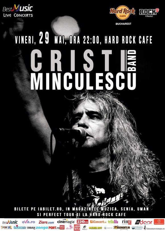 Cristi Minculescu canta alaturi de trupa sa in Hard Rock Cafe