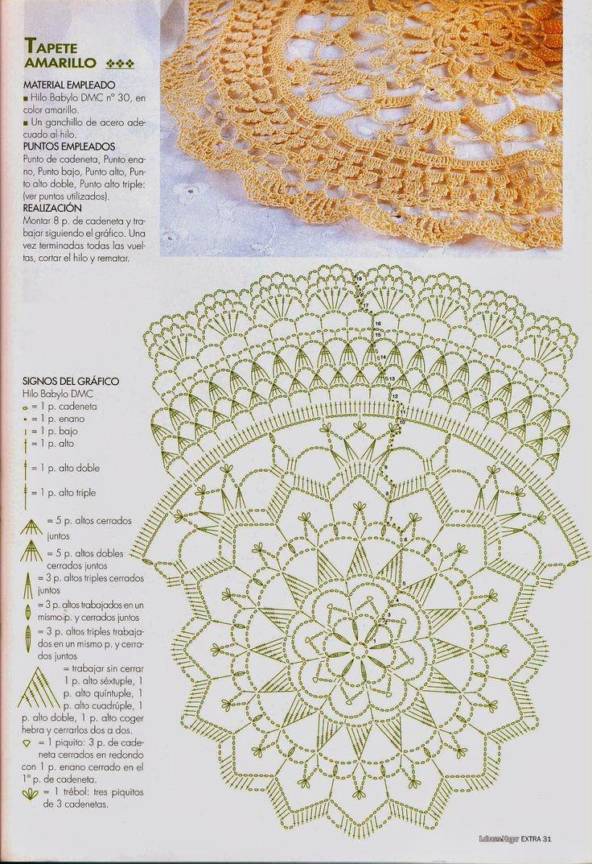 1301 best Motivos de croche images on Pinterest | Crochet motif ...