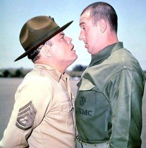 Gomer Pyle U.S.M.C. is a situation comedy that aired for five seasons on CBS from 1964 to 1969. The pilot episode of the series aired as a fourth season episode of The Andy Griffith Show. The series, created by Aaron Ruben, starred Jim Nabors as Gomer Pyle as he serves in the United States Marine Corps at Camp Henderson in California, under the command of Sergeant Vince Carter (Frank Sutton).