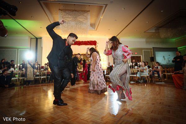 Cheerful indian wedding reception dance performance http://www.maharaniweddings.com/gallery/photo/127946