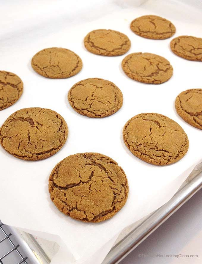 Best Gingersnaps ever. Crackly, crunchy on the outside, chewy in the center. Spicy and sweet, great with milk or a mug of chai tea.
