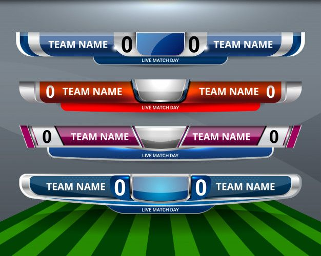 Scoreboard Sport Template For Football And Soccer Sports