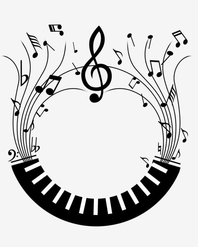 Cute Cute Black And White Notes Five Line Piano Keyboard Ps Path Editable Decorative Pattern Cute Black And White Tabs Png Transparent Clipart Image And Psd Music Notes Art Musical