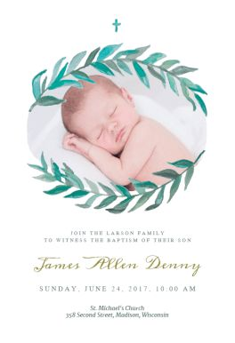 54 best printable baptism christening invitations images on pinterest bay laurel printable invitation template customize add text and photos print download stopboris Choice Image