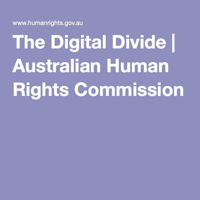 The Digital Divide | Australian Human Rights Commission