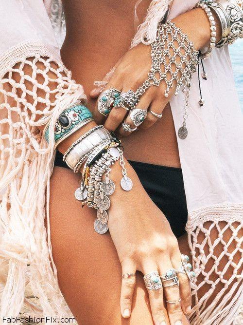Boho jewelry for summer style. #boho #jewelry #bohemian