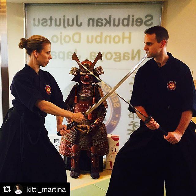 #Repost @kitti_martina with @repostapp ・・・ Samurai moments  #battojutsu #nagoya #dojo #japan #throwback #sword #katana #samurai #cut #spirit #budo #warriors #blade #iaito