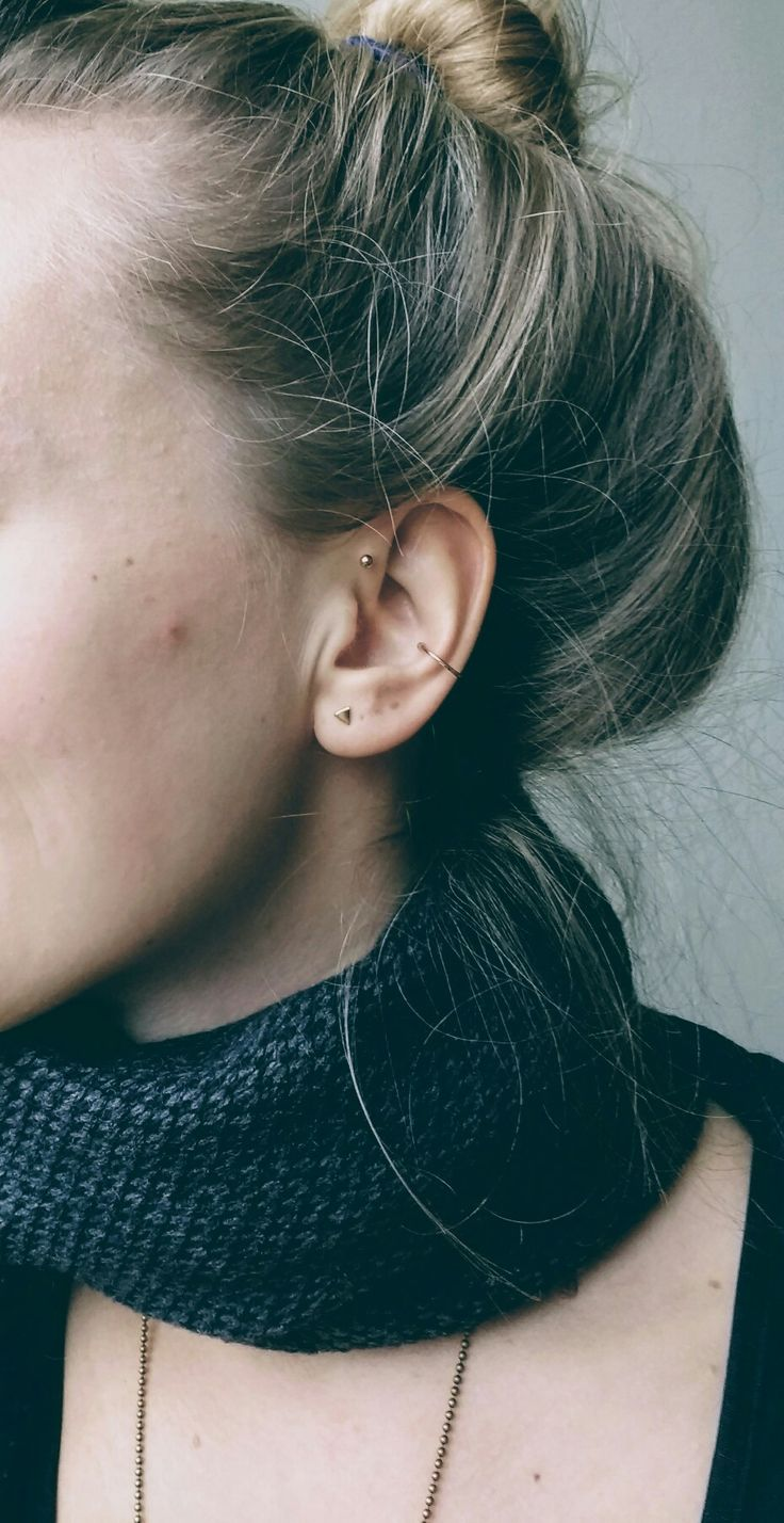 My forward helix, standard lobe and fake orbital ring  WOMEN'S ACCESSORIES http://amzn.to/2kZf4gO