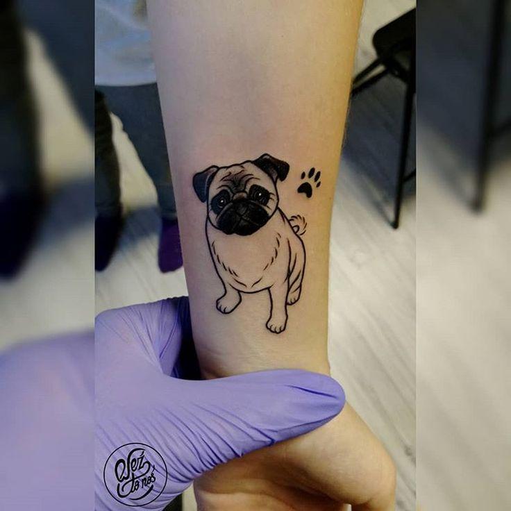 Pug tattoo ^^#minimalisttattoo #pug #pugtattoo #tattoo #tattoos #tattooing
