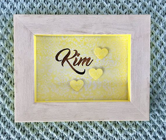 Customised Rustic Rose Gold  Water colour gift calligraphy
