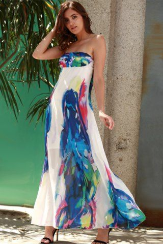 GET $50 NOW | Join RoseGal: Get YOUR $50 NOW!http://www.rosegal.com/maxi-dresses/chic-strapless-sleeveless-floral-print-276168.html?seid=8569013rg276168