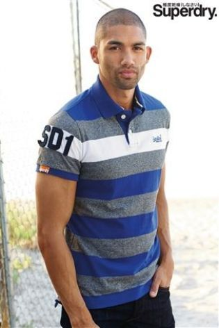 Superdry Grey Contrast Stripe Polo at Next