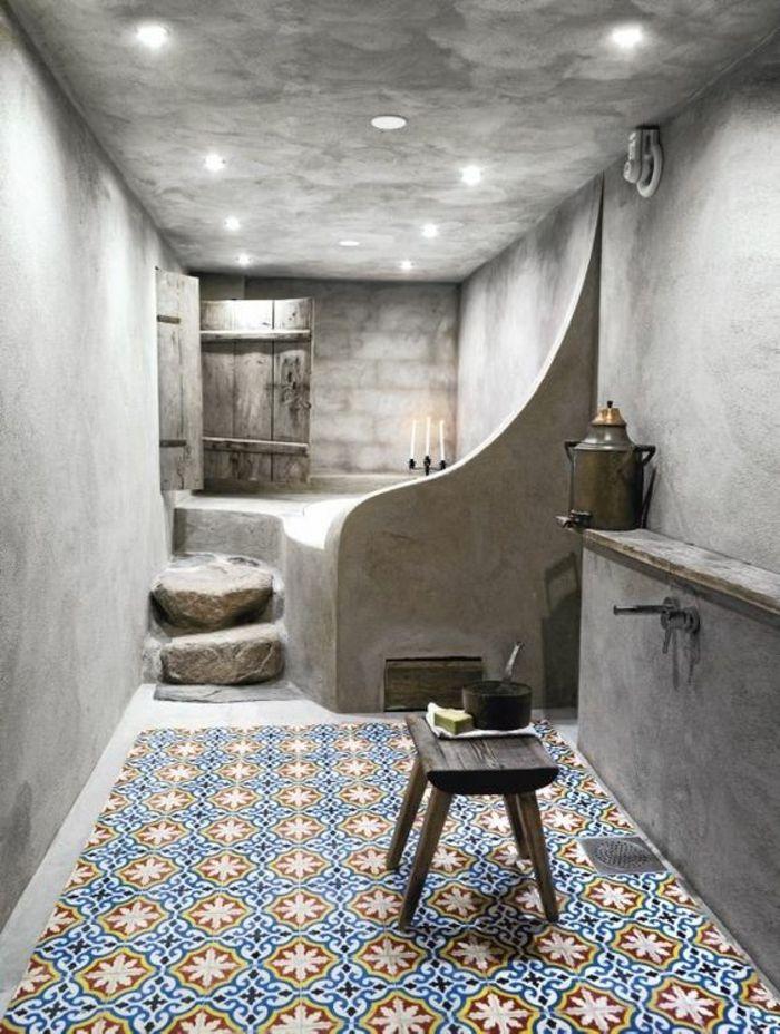 161 best déco salle de bain images on Pinterest Bathroom - peindre plafond salle de bain