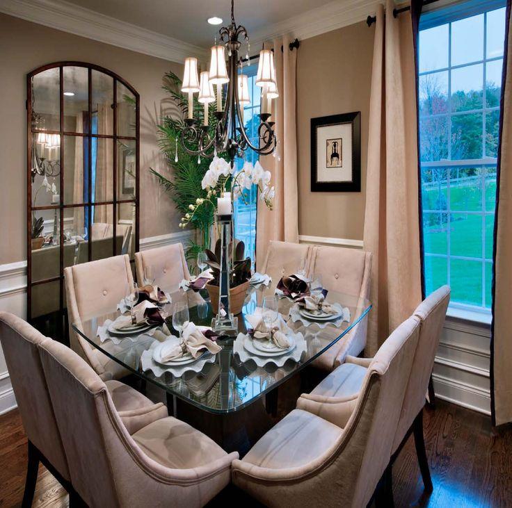 Progress lighting 39 s veranda chandelier illuminates this dining room in a toll brothers home - Veranda dining rooms ...